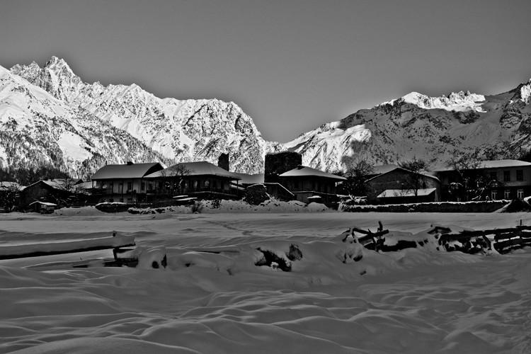 Mazeri village, Swanetia, Georgia, South Caucasus